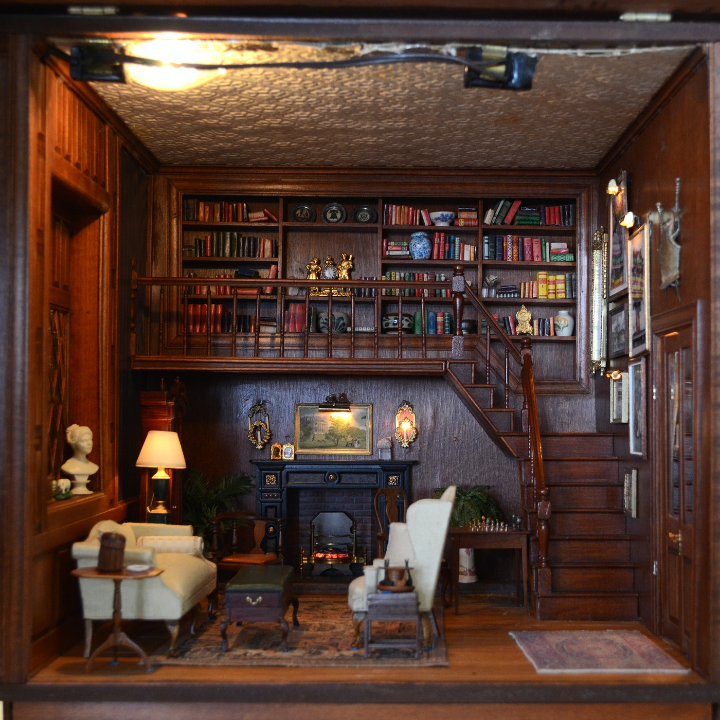 Vintage Miniature Library Room From The Charles Tebelman