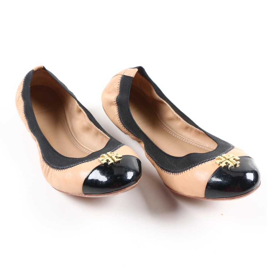 de8b1f10306 Tory Burch Jolie Leather Ballet Flats   EBTH