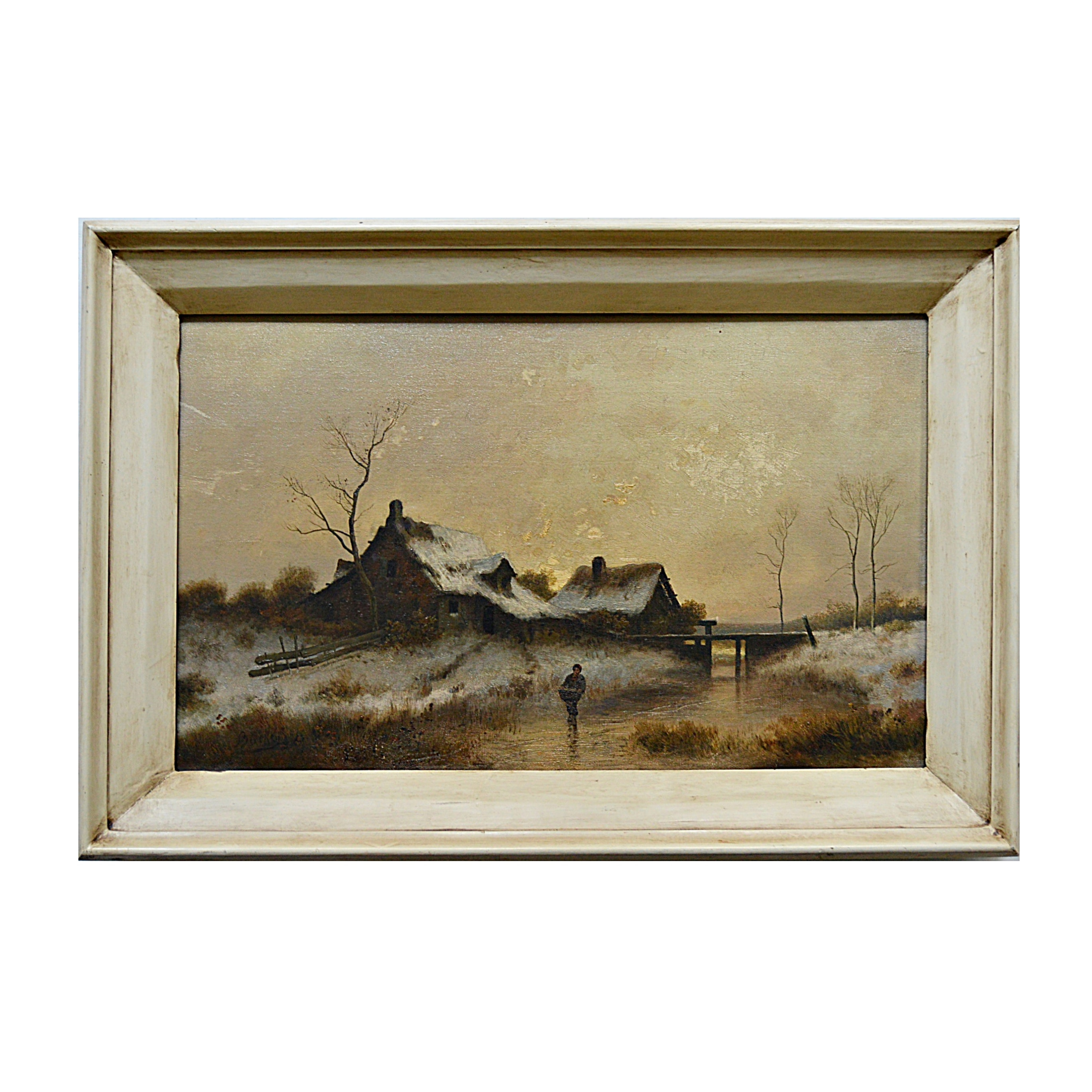 Late 19th Century Peter Bücken German Landscape Oil on Board