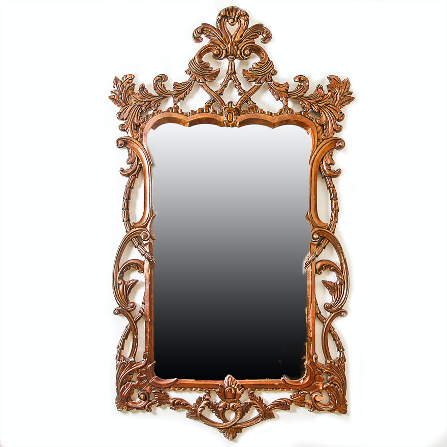 Vintage baroque style wall mirror ebth for Baroque style wall mirror