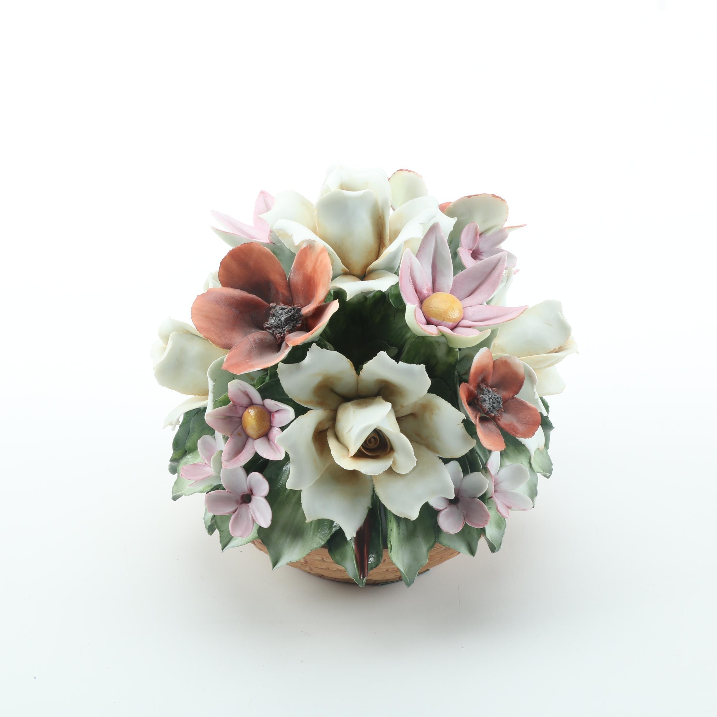 Dino Cucineili Decorative Spring Flowers Arrangement Ebth