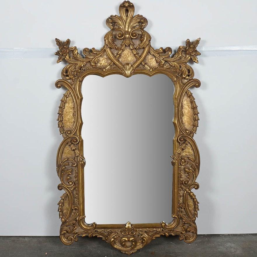 Ornate Gold Framed Mexican Mirror : EBTH