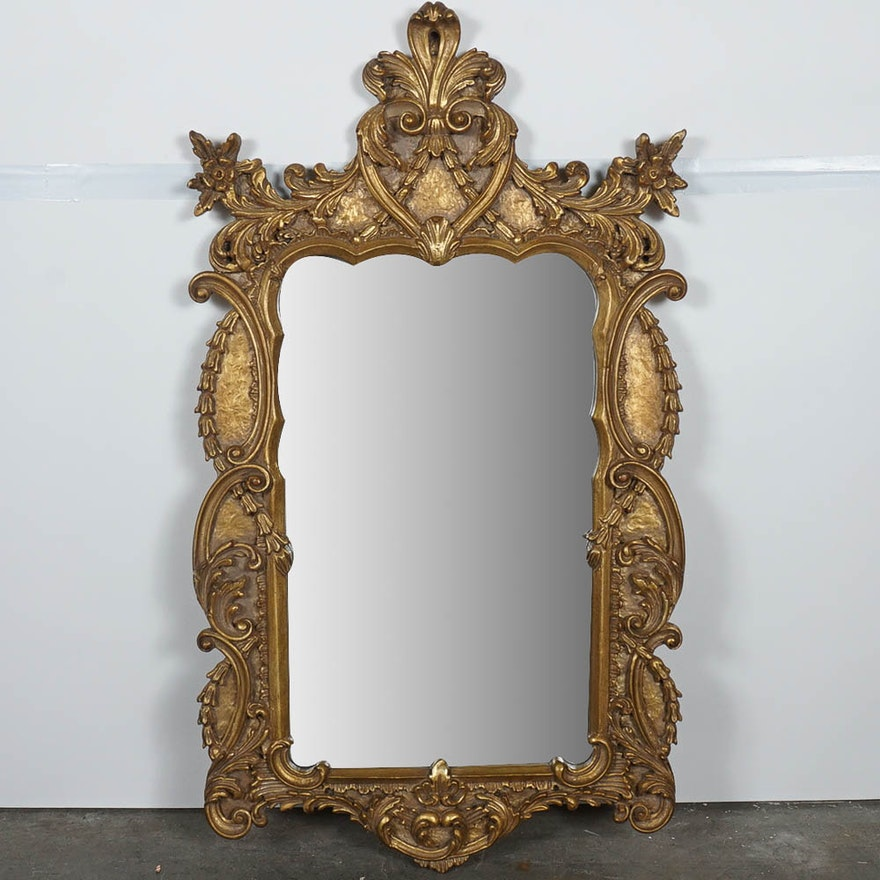 Ornate Gold Framed Mexican Mirror Ebth