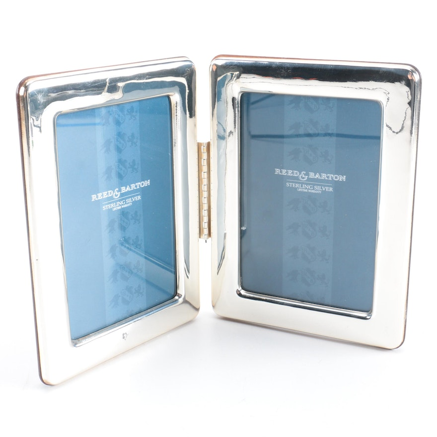 Reed Barton Sterling Silver Hinged Double Frame Ebth