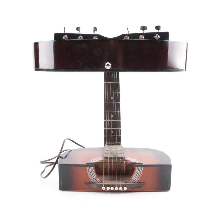 Guitar table lamp ebth guitar table lamp aloadofball Image collections