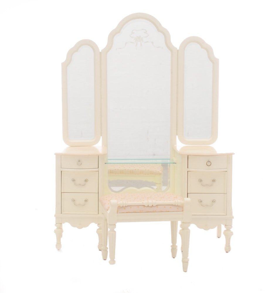 Lexington Dressing Table With Mirror And Bench ...