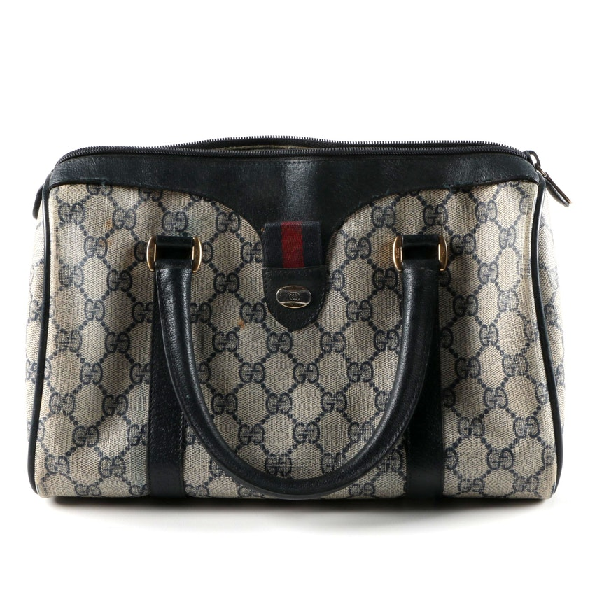 d43f762faca Vintage Gucci Supreme GG Canvas Handbag   EBTH
