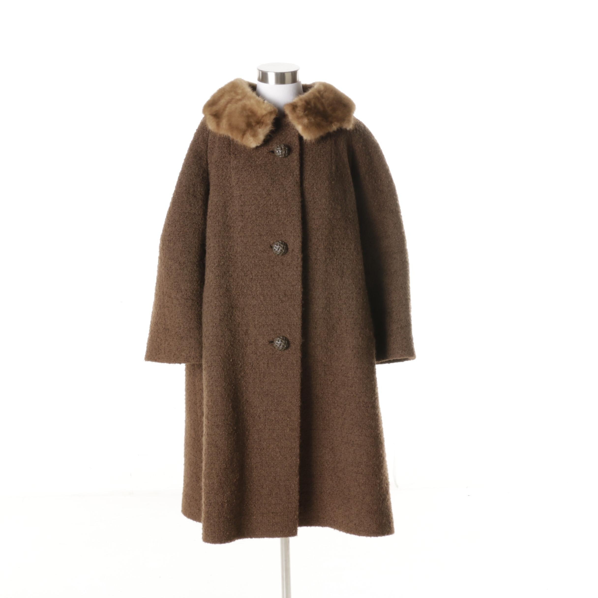 W & W Auto Sales >> Vintage Wool Coat with a Mink Collar : EBTH