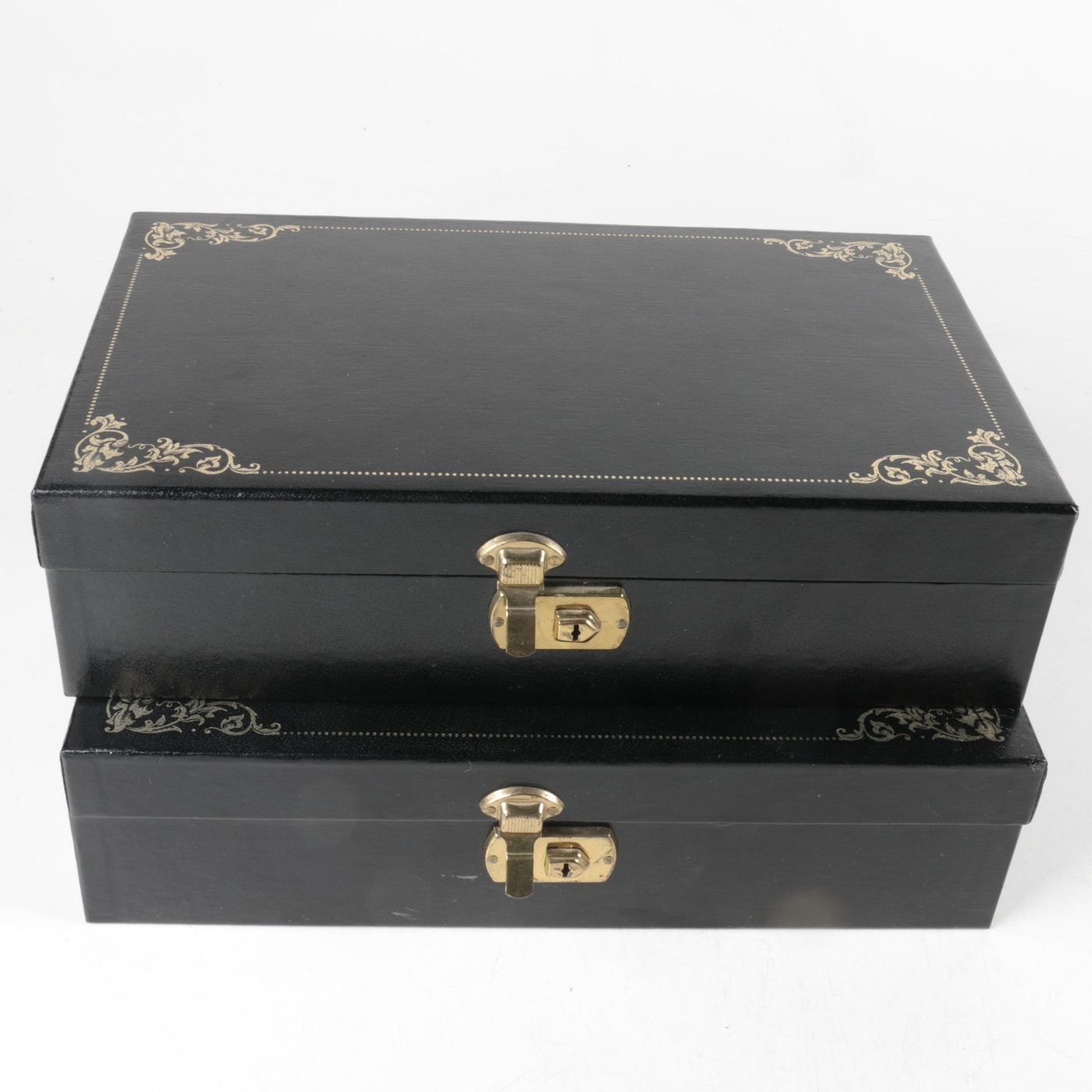 Faux leather jewelry boxes with key ebth for Jewelry box with key
