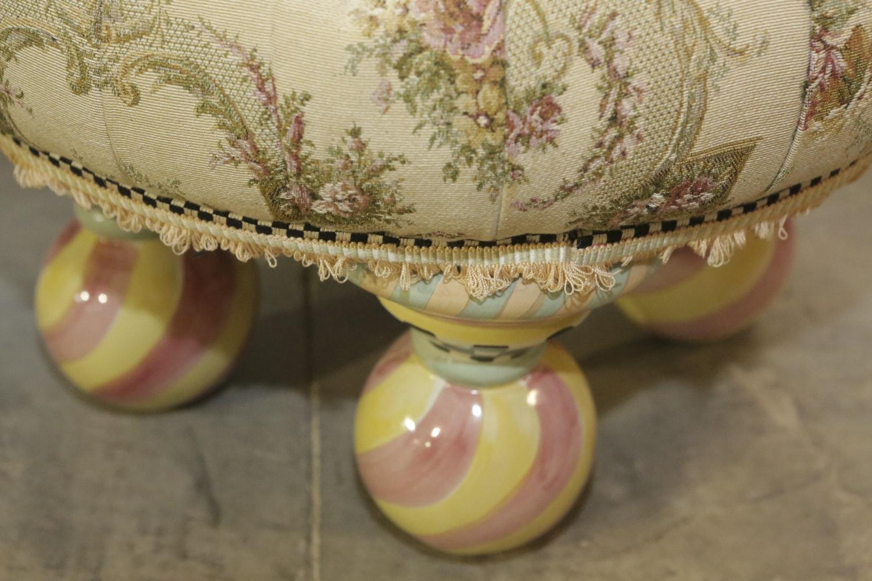 Floral Tuffet By Mackenzie Childs Ltd Ebth