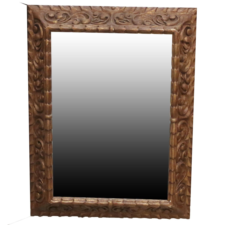 Ornately Framed Beveled Wall Mirror Ebth