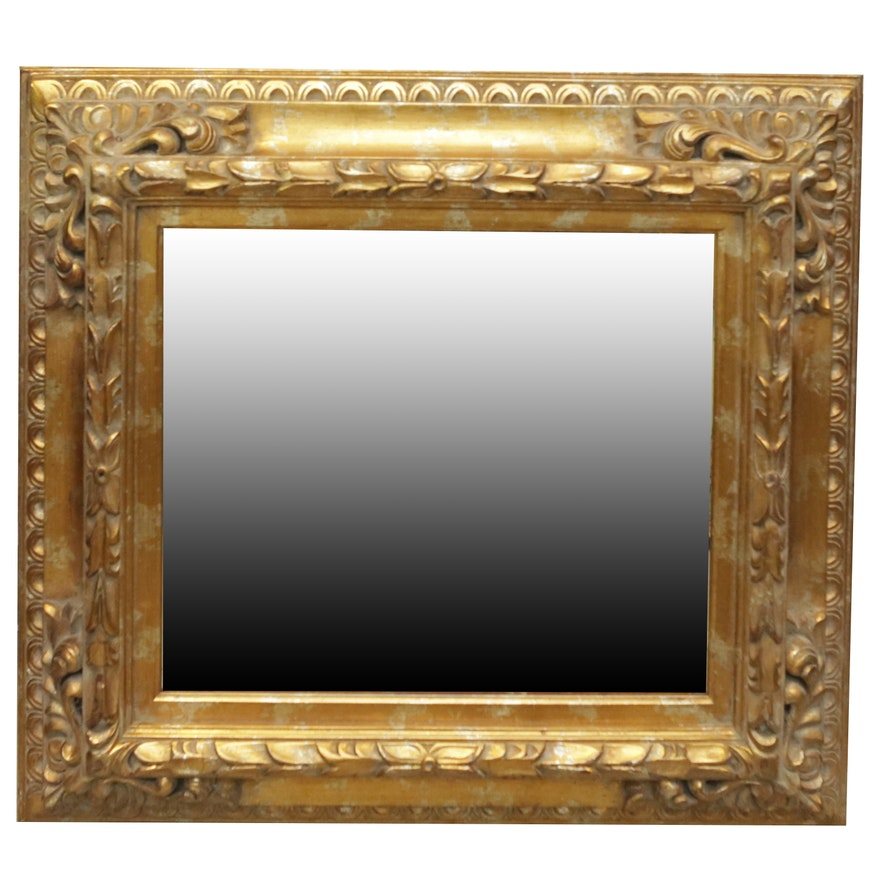 Wall mirror with regency style wood frame ebth for Mirror frame styles
