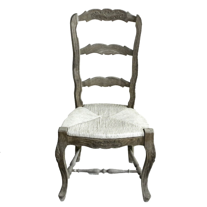 french provincial style ladderback chair ebth