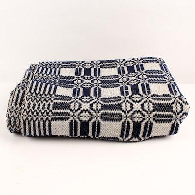 Antique Handwoven Linsey-Woolsey Blanket