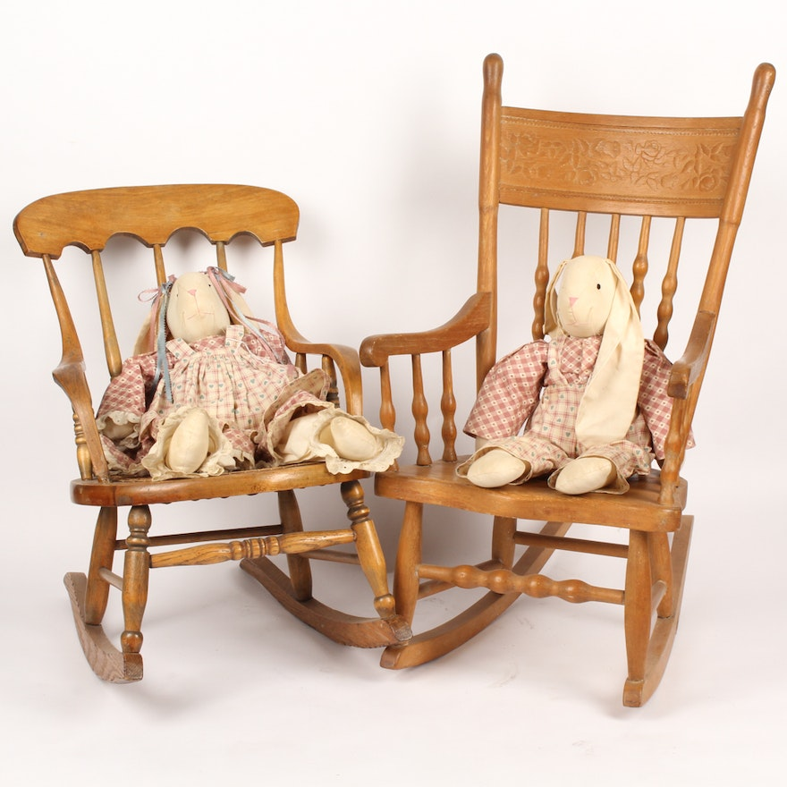 Fantastic Vintage Childrens Rocking Chairs Gmtry Best Dining Table And Chair Ideas Images Gmtryco