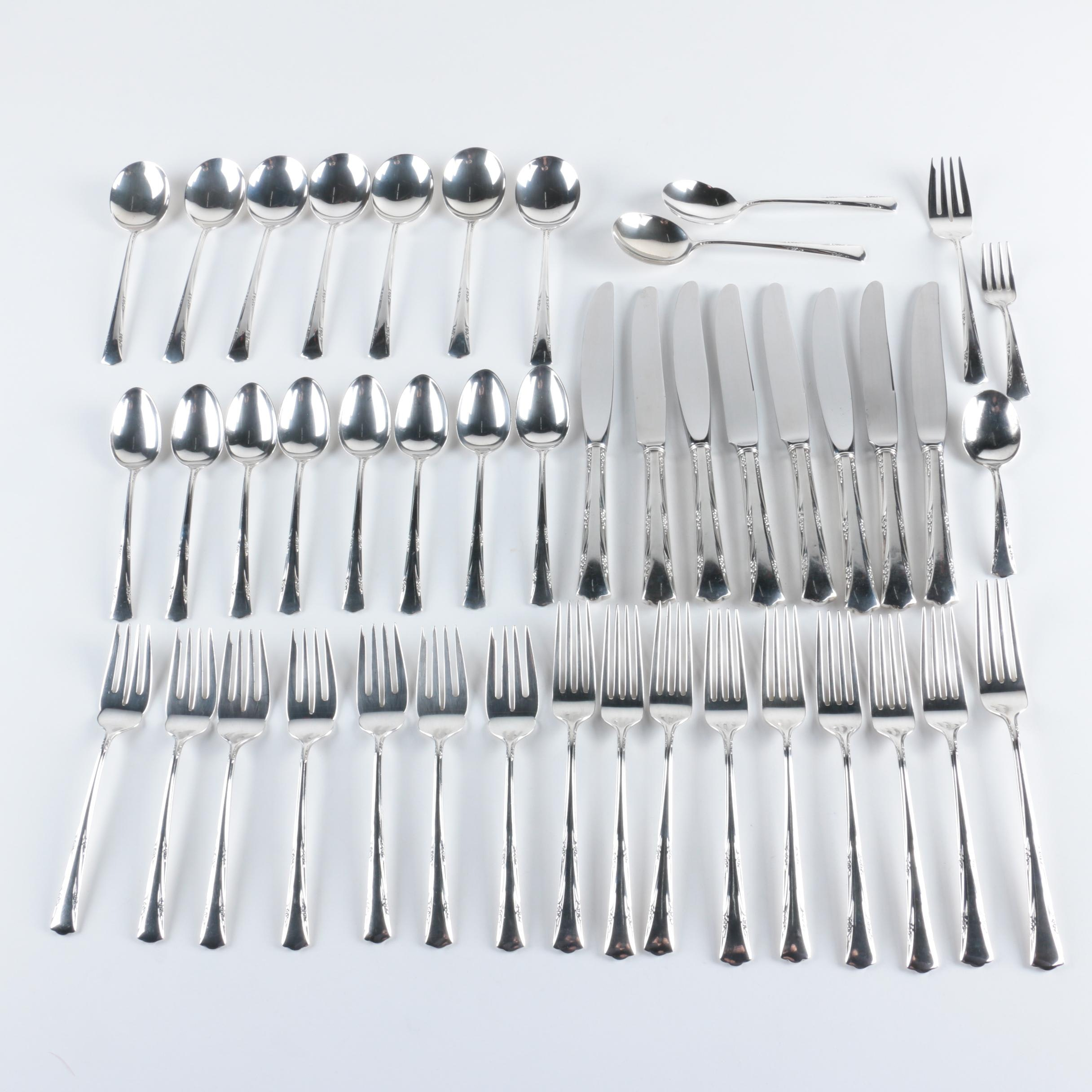 "Gorham ""Greenbrier"" Sterling Silver Flatware Set"