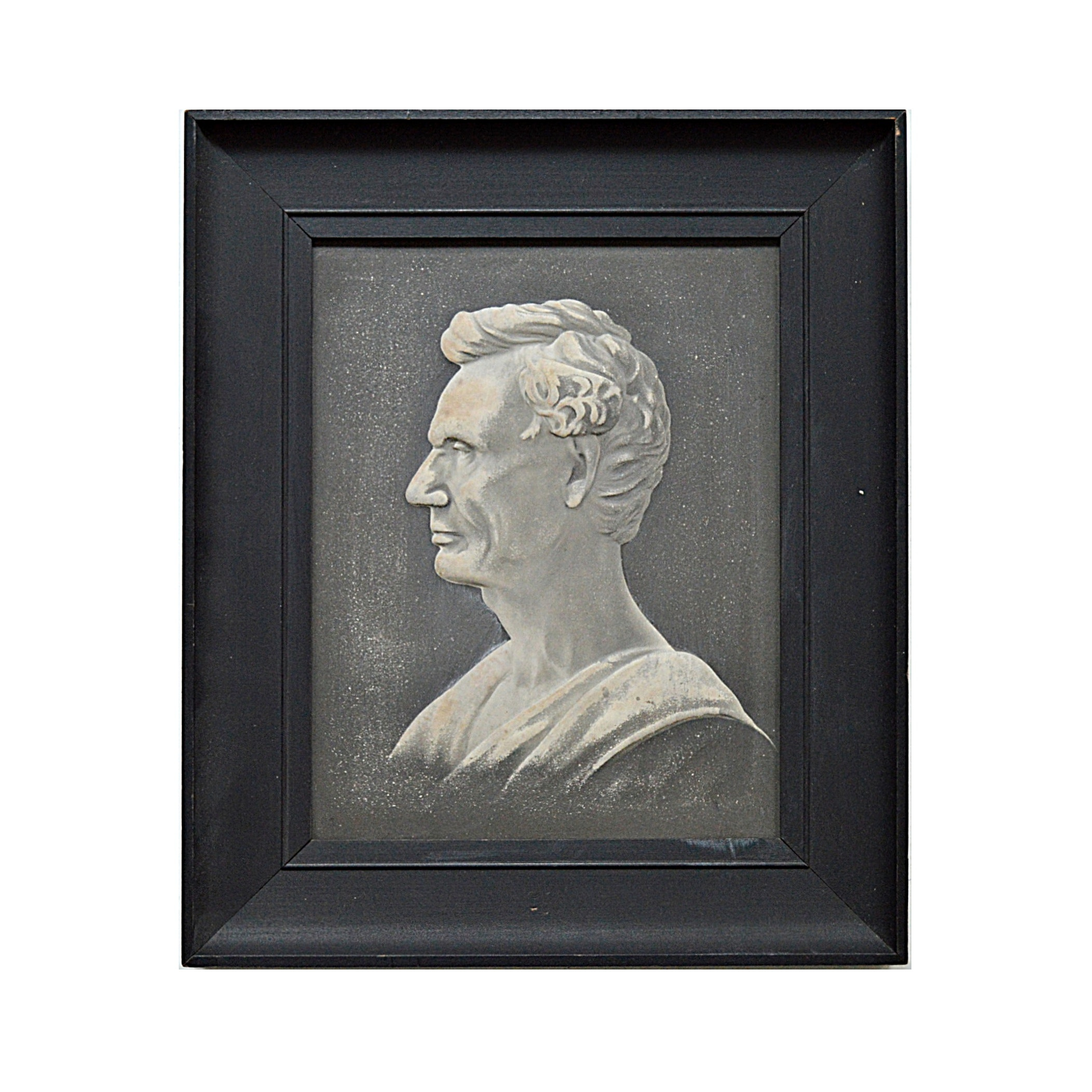 Vintage Embossed Lithographic Portrait of Lincoln