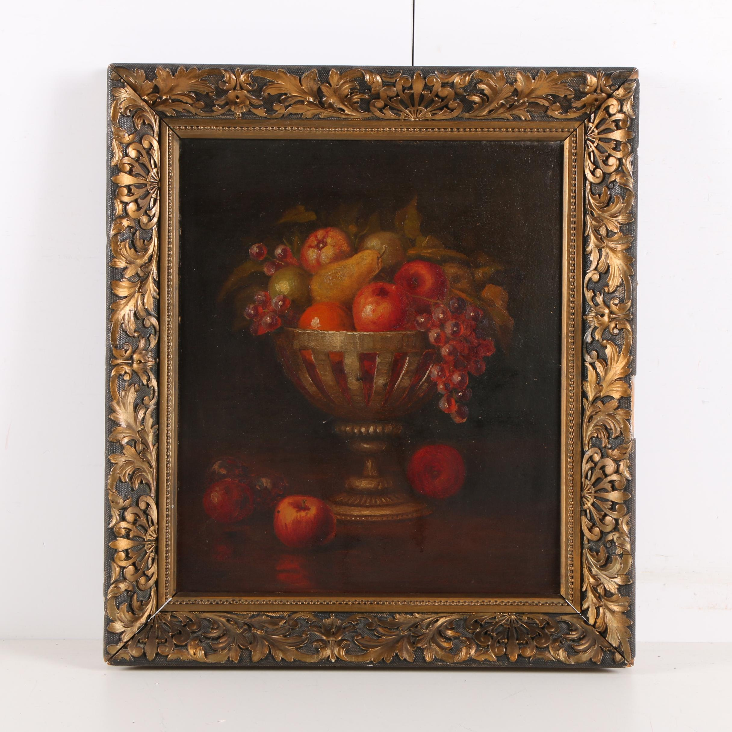 Oil Painting on Board of Still Life