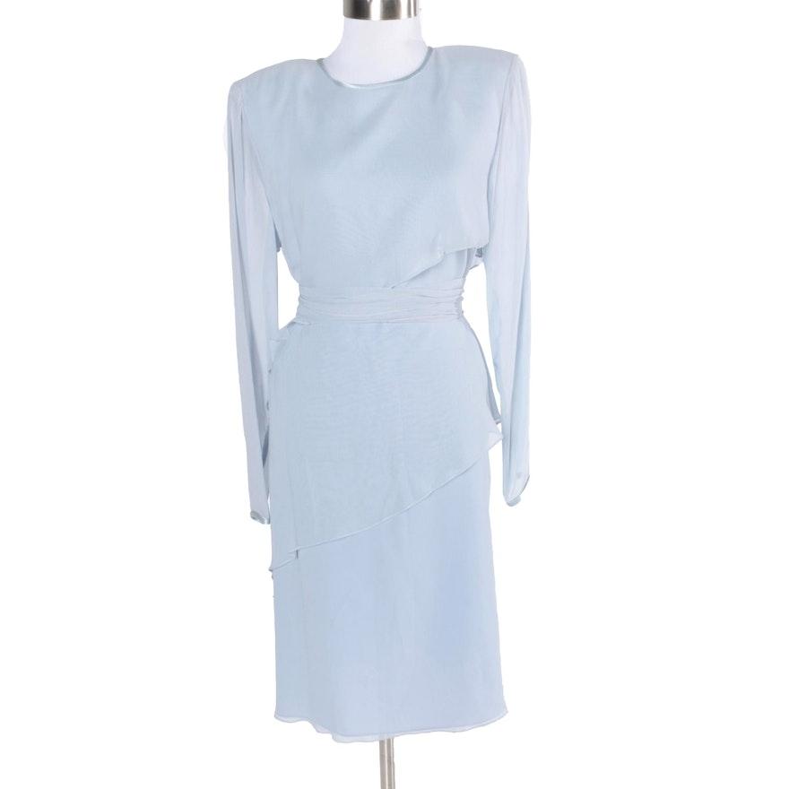 2c1a92e4cc9 Kay Unger Evening Blue Silk Dress   EBTH
