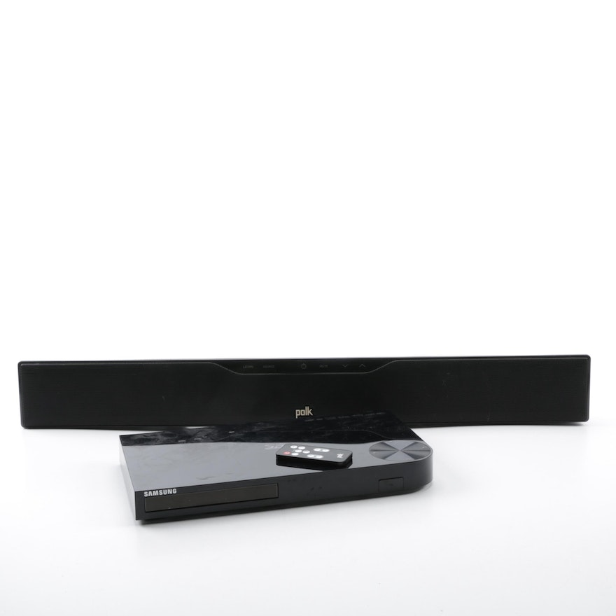 Samsung Blu Ray Player And Polk Sound Bar