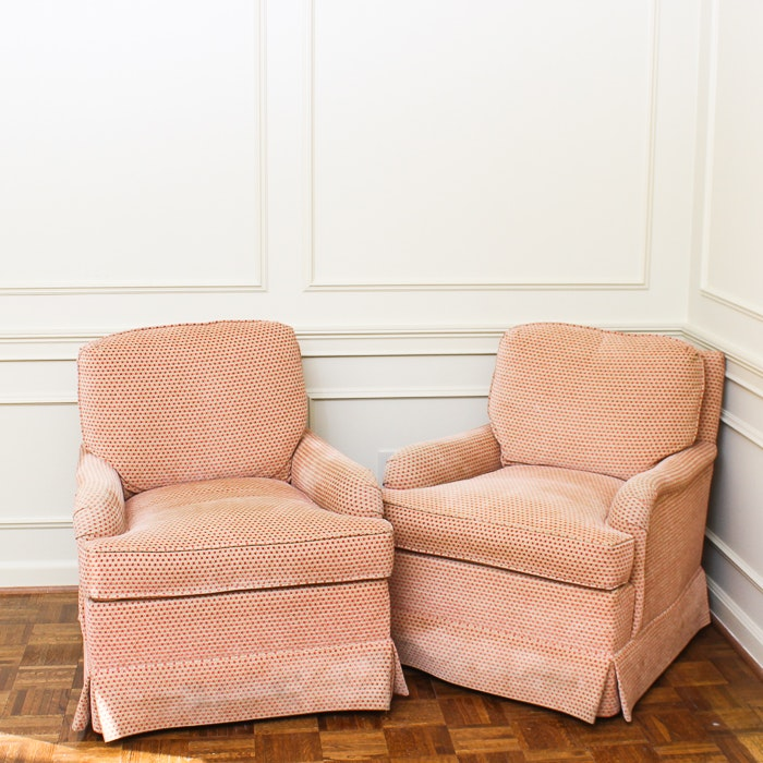 Upholstered Club Chairs by The Charles Stewart Company