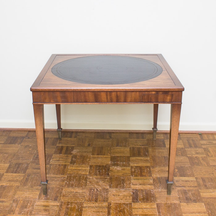 Contemporary Federal Style Walnut Game Table