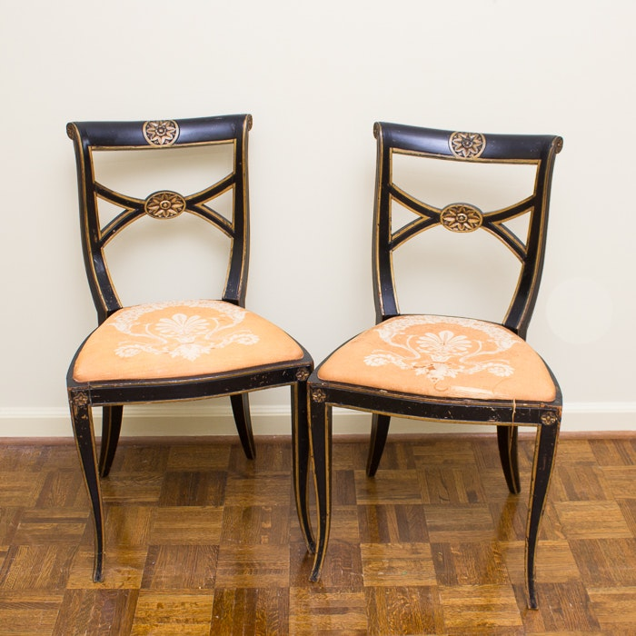 Pair of Duncan Phyfe Style Chairs