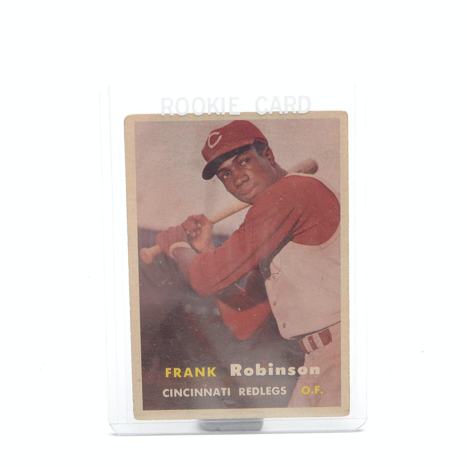 1957 Frank Robinson Reds Topps Rookie Baseball Card
