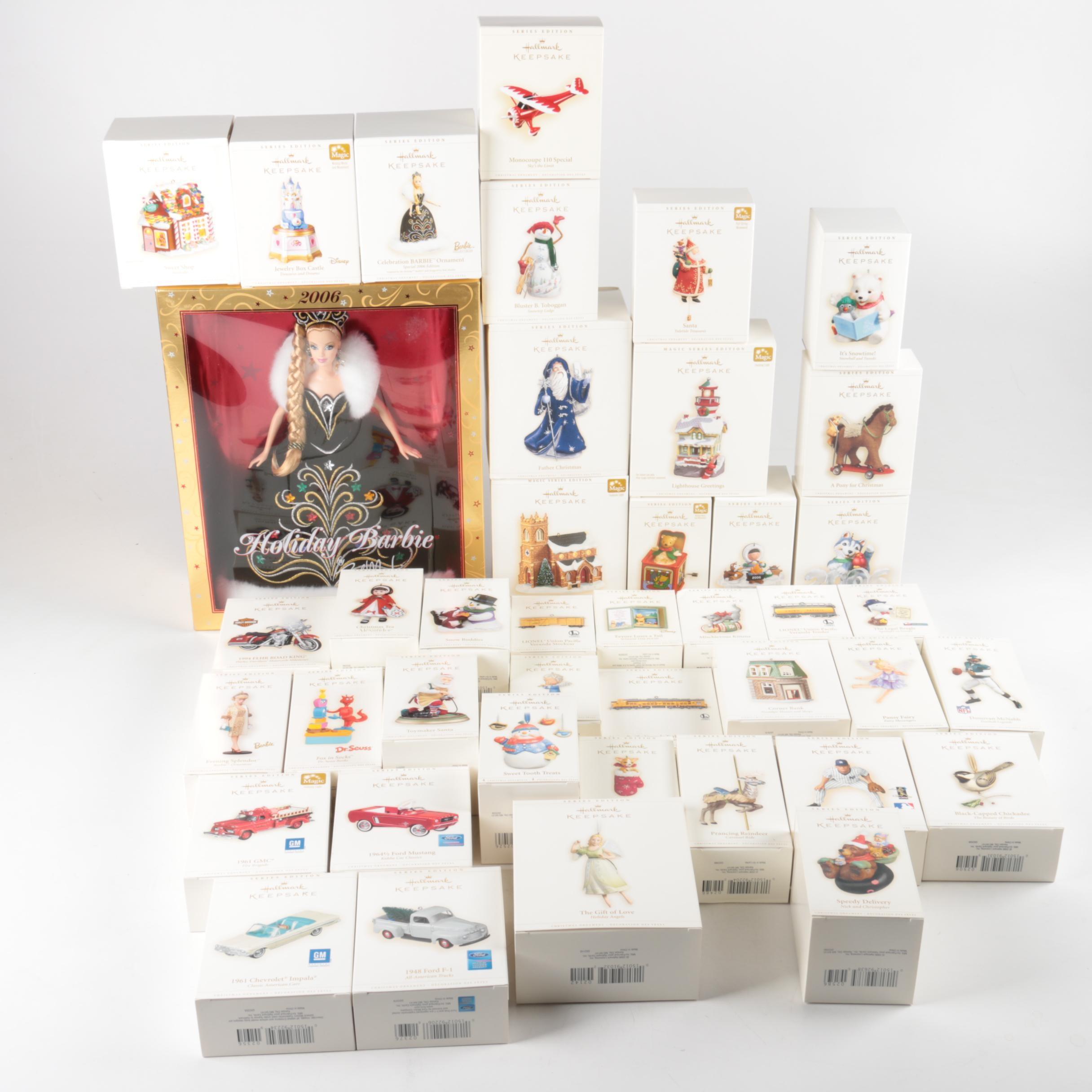 Hallmark Christmas Ornaments And Holiday Barbie Ebth