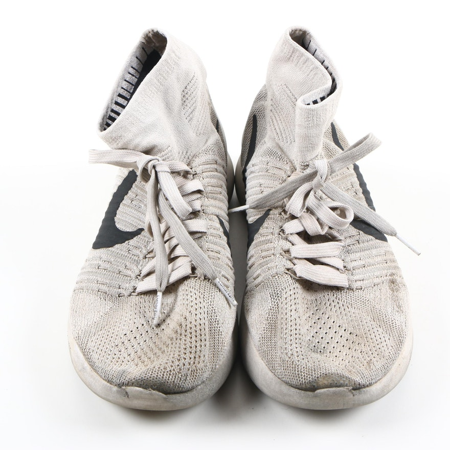 Nike Light Gray Black Swish Men Shoes