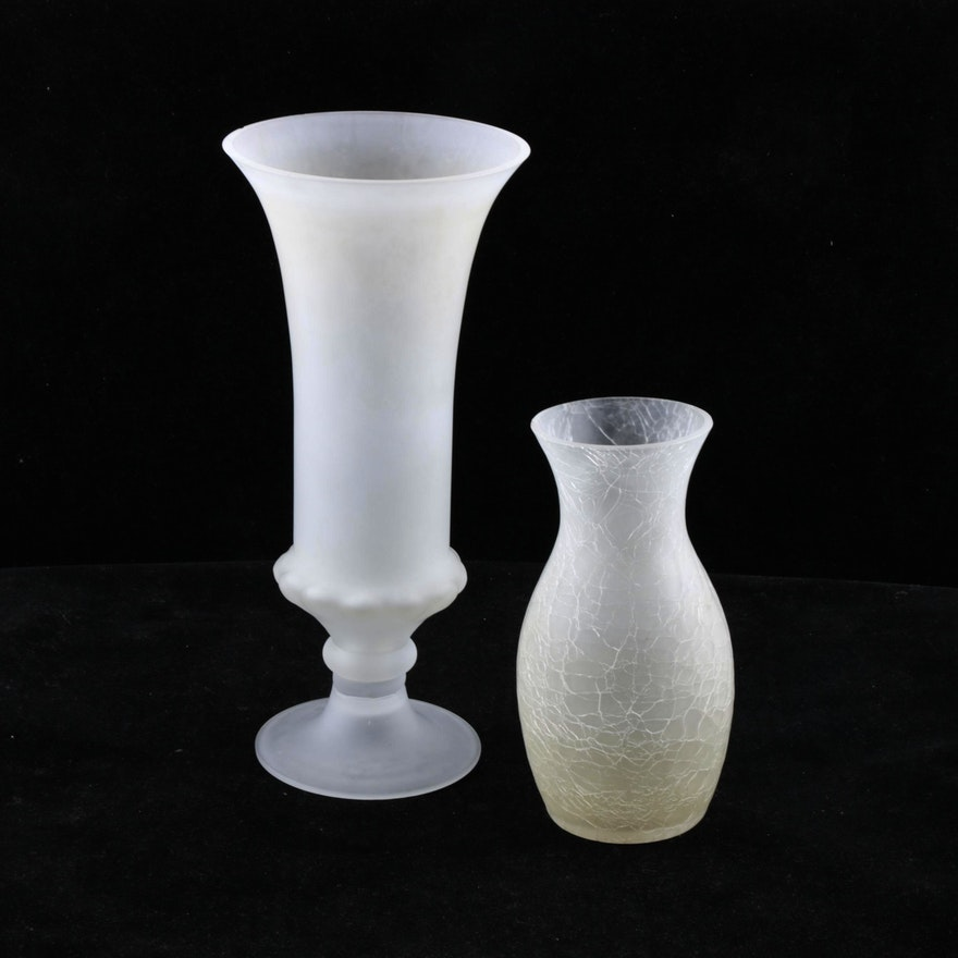 Frosted Glass Vases Ebth