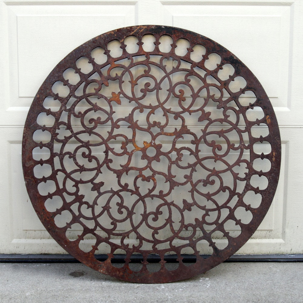 Cast Iron Medallion