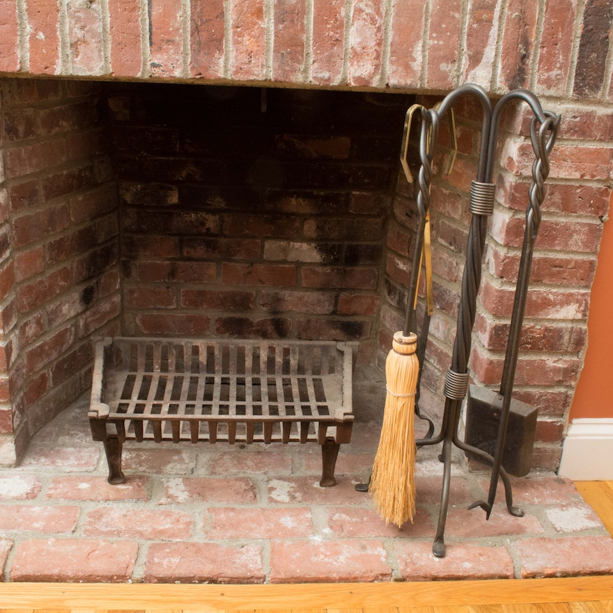 Vintage Cast Iron Fireplace Tools