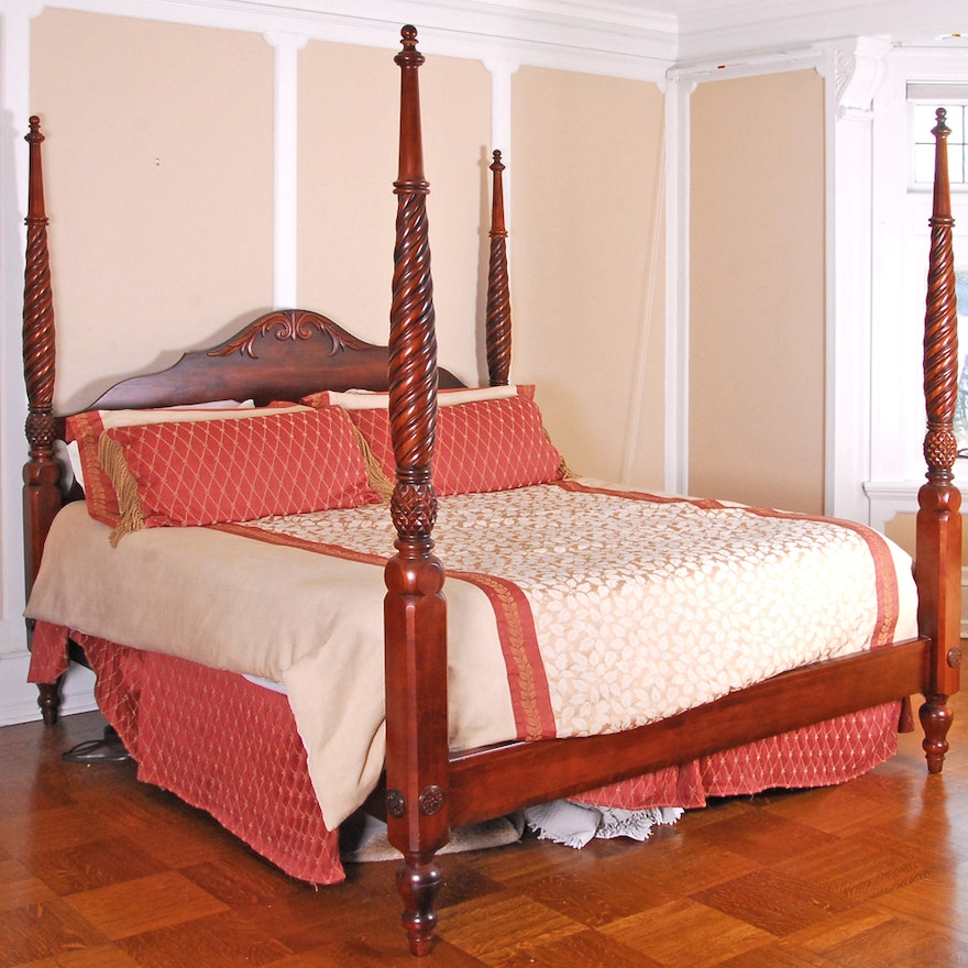 British Clics King Size Bed Frame By Ethan Allen