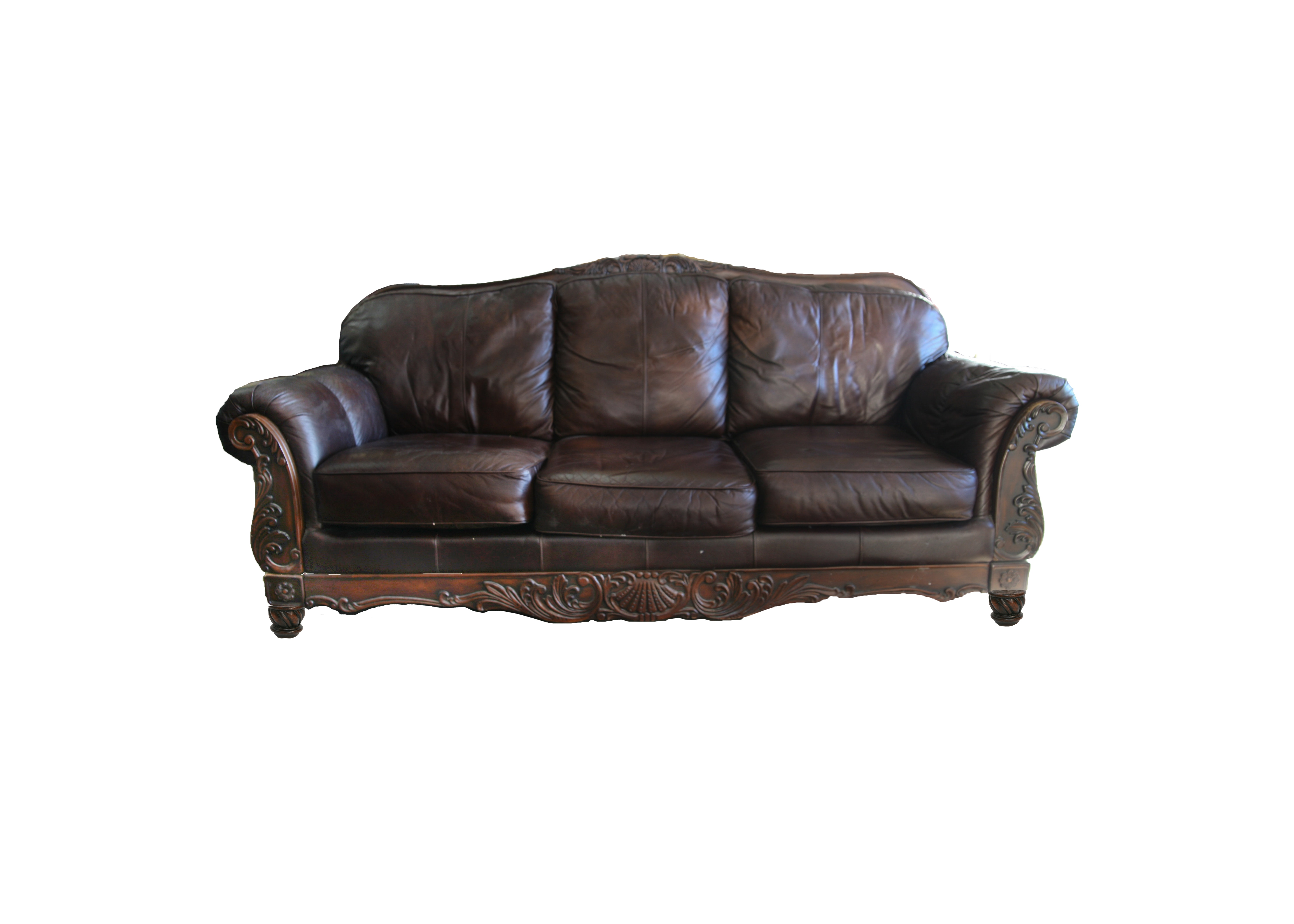 Exceptionnel Victorian Styled Leather Sofa By Ashley Furniture ...