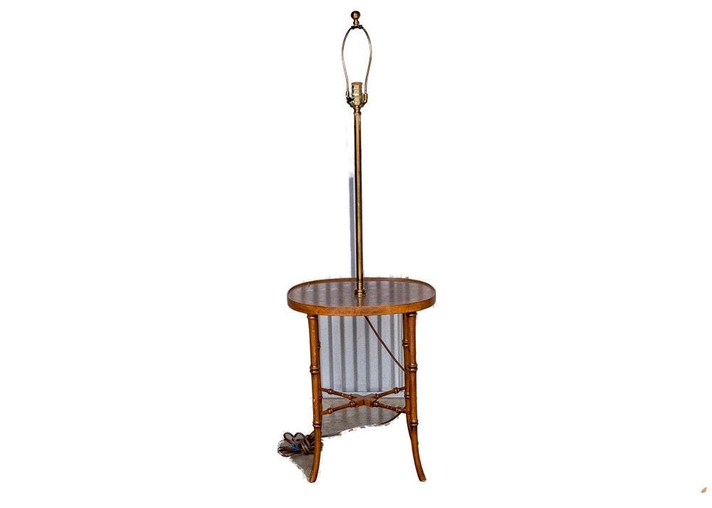 Vintage Tray Table Floor Lamp ...