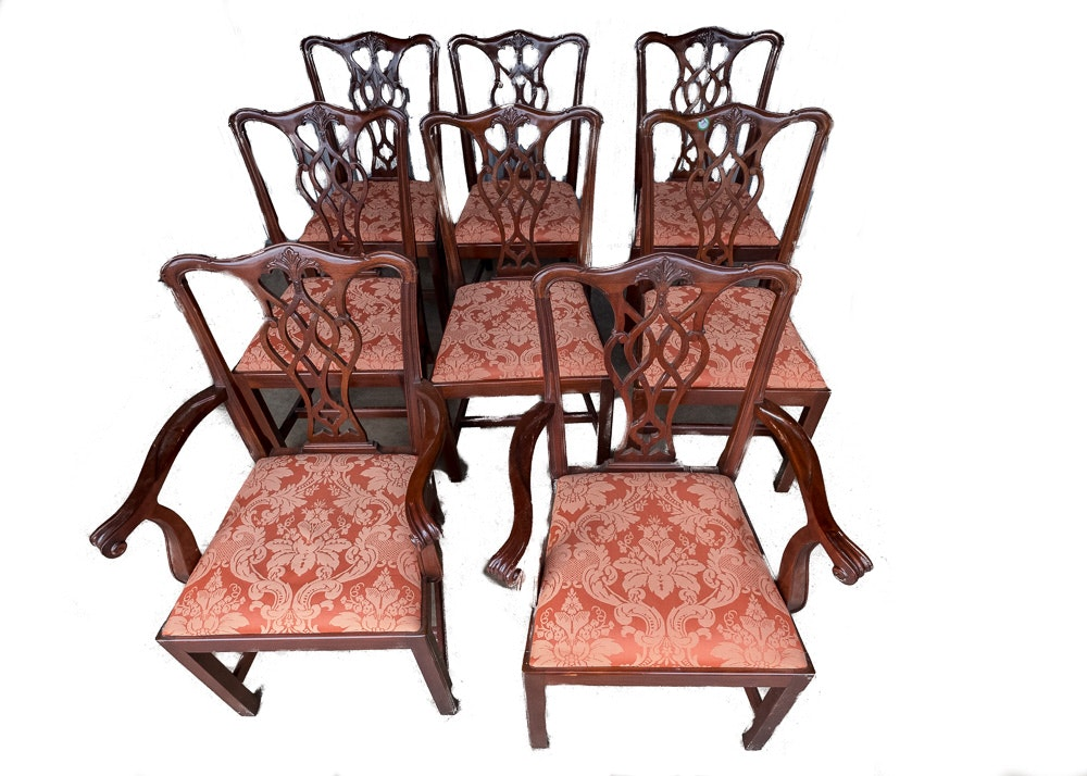 Carved Mahogany Chippendale Style Dining Chairs ...  sc 1 st  EBTH.com & Carved Mahogany Chippendale Style Dining Chairs : EBTH