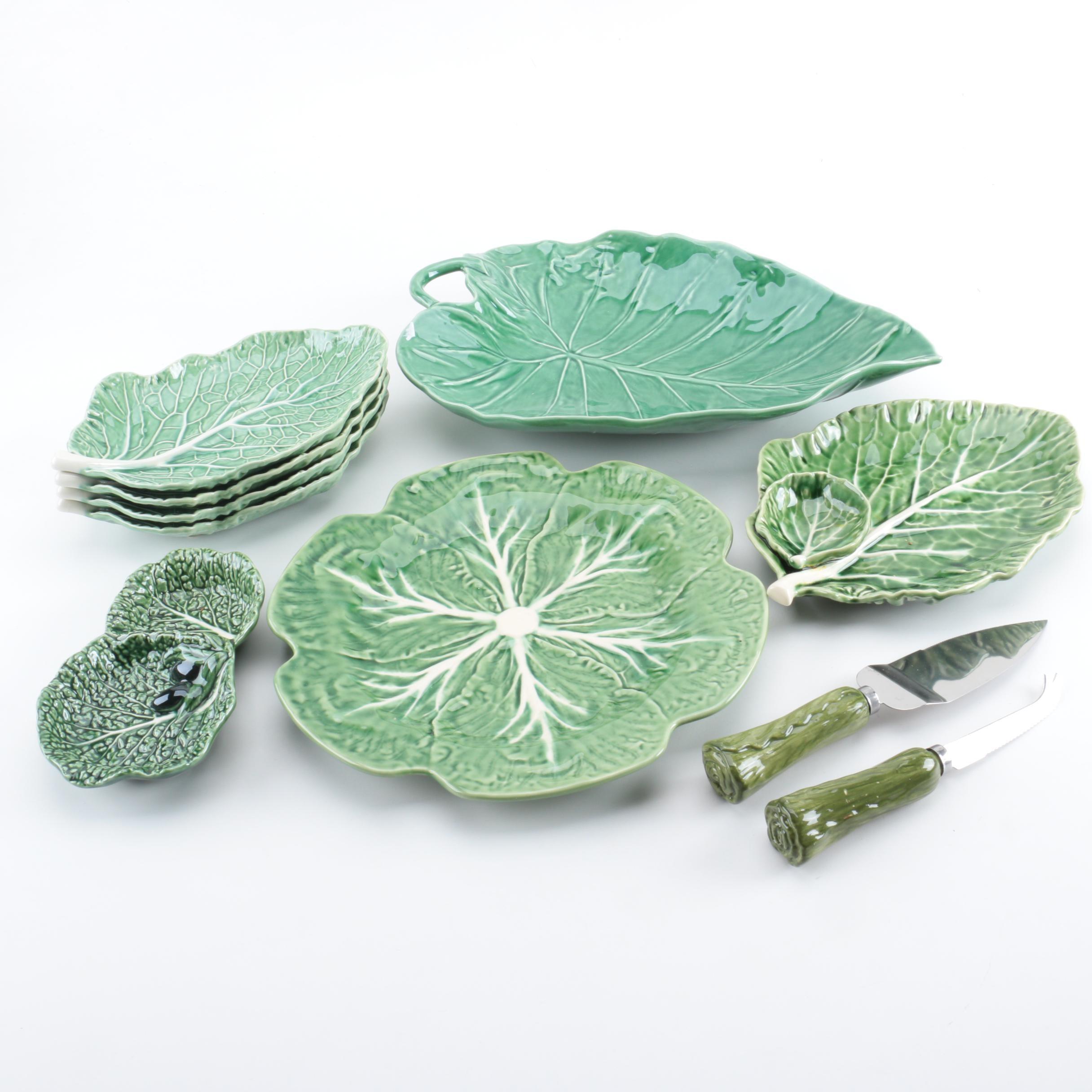Bordallo Pinheiro Majolica Cabbage Leaf Dinnerware ...  sc 1 st  EBTH.com & Bordallo Pinheiro Majolica Cabbage Leaf Dinnerware : EBTH