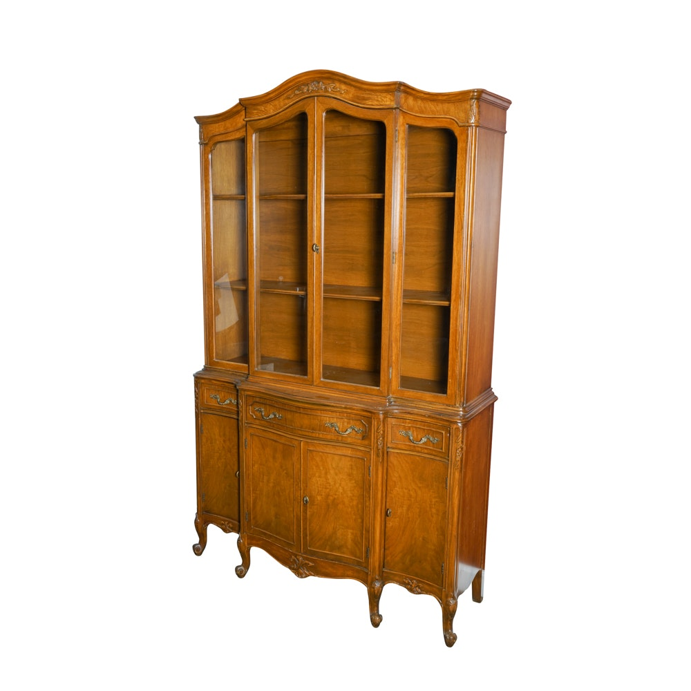Provincial Style Breakfront China Cabinet By John Stuart Inc ...