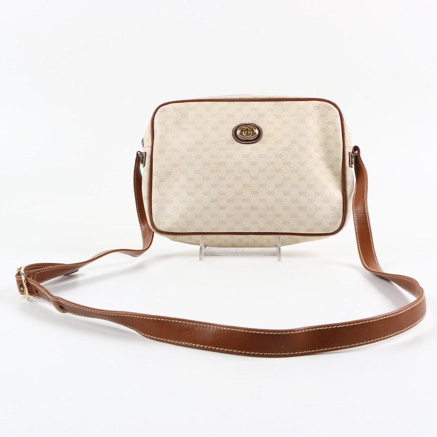 36d42351eb81 Vintage Gucci Canvas Crossbody Bag : EBTH