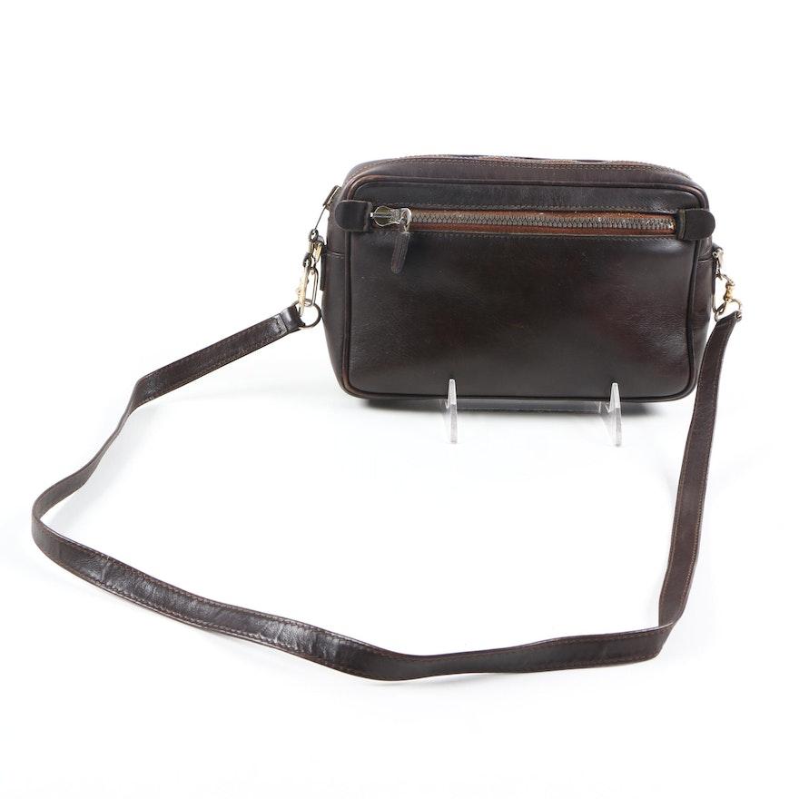 490d79bff3b2 Vintage Gucci Brown Leather Shoulder Bag : EBTH