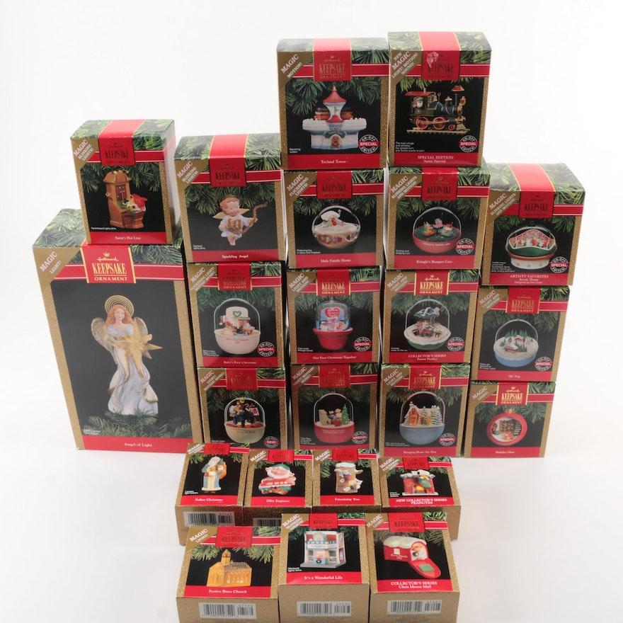 1991 Hallmark Keepsake Christmas Ornaments and \