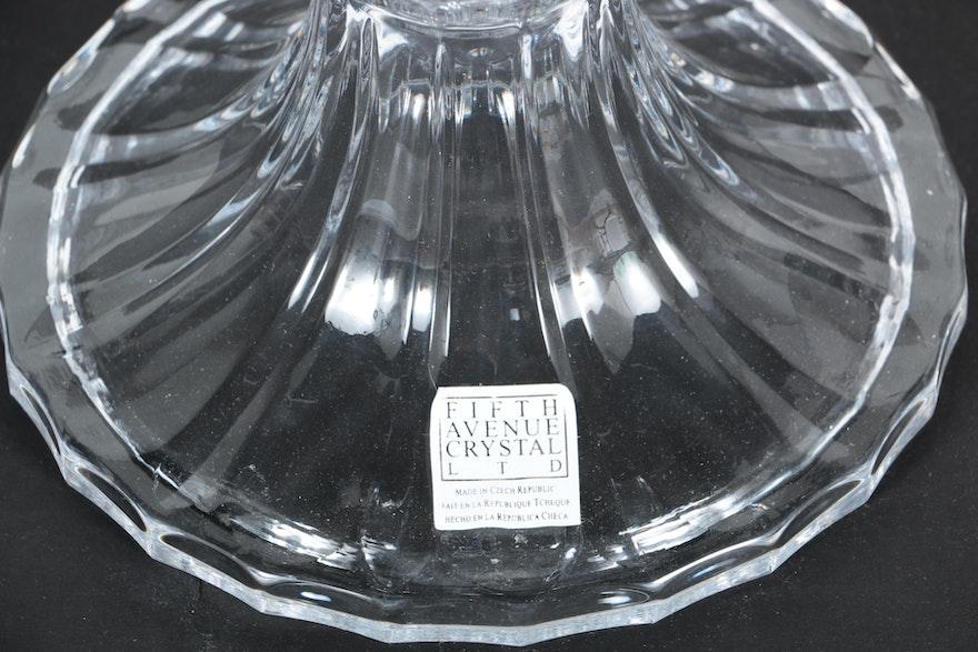 Fifth Avenue Crystal Vasepillion Vase Saks Fifth Avenue Crystal