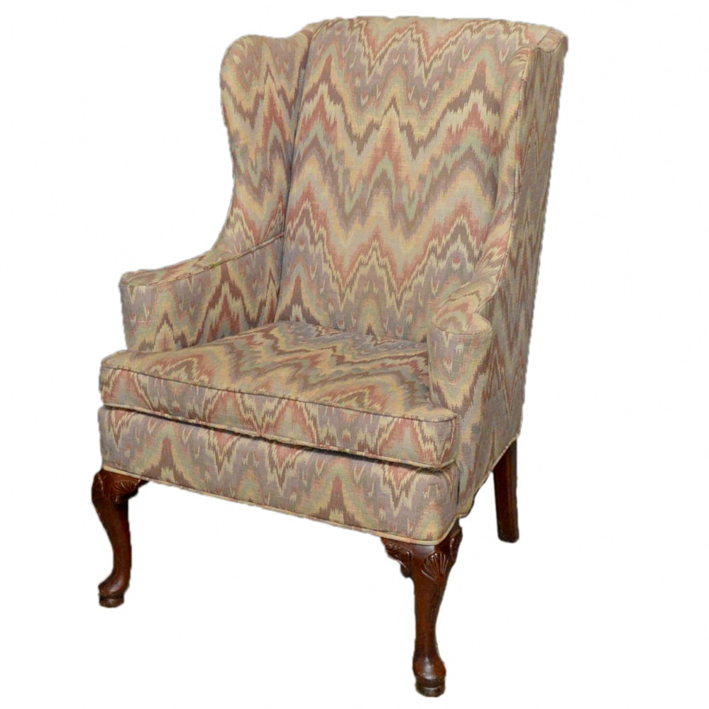 Queen Anne Style Wingback Chair by Thomasville ...  sc 1 st  EBTH.com & Queen Anne Style Wingback Chair by Thomasville : EBTH