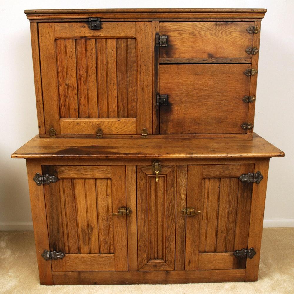 Vintage Oak Hoosier Cabinet ... & Vintage Oak Hoosier Cabinet : EBTH
