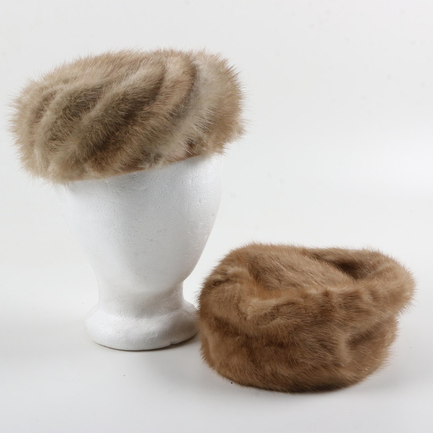 Vintage Mink Fur Hats   EBTH 13be1c23c03