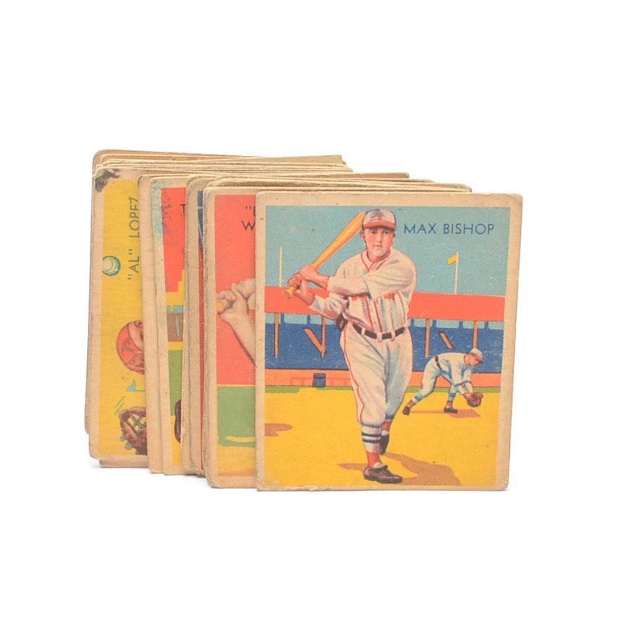 Twenty Five 1930s Diamond Stars Baseball Cards With Hall Of Fame Players