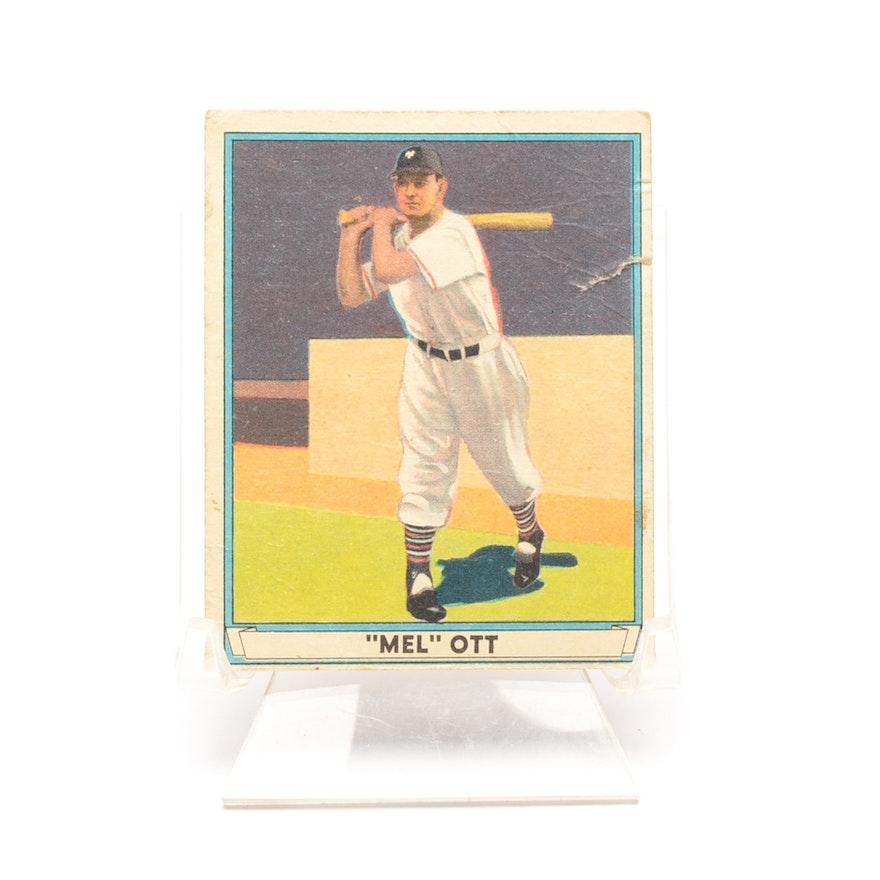 1941 Mel Ott New York Giants Play Ball Baseball Card