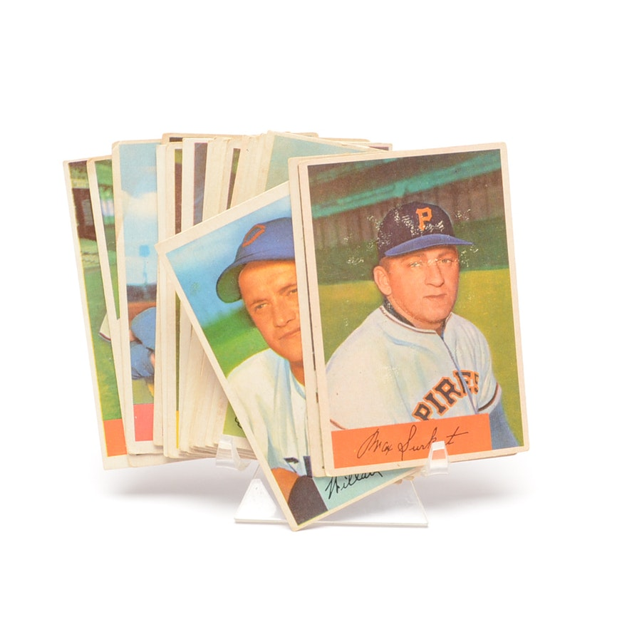 Twenty One 1954 Bowman Baseball Cards