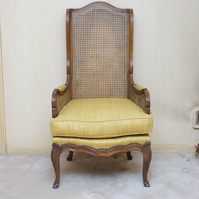 Louis XV Style Cane Back Armchair by Baker Furniture - Vintage Chairs, Antique Chairs And Retro Chairs Auction In Mid